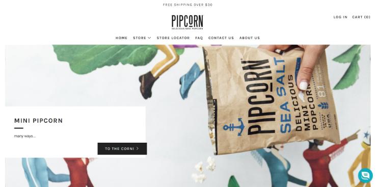 Pipcorn Shopify