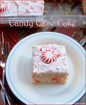Candy Cane Cake, for serious peppermint lovers. | Recipe developed by www.BakingInATornado.com | #recipe #dessert