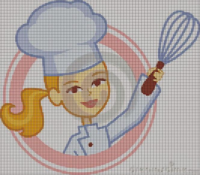 Ricami Punto Croce Per Cucina.Hobby Lavori Femminili Ricamo Uncinetto Maglia Schemi