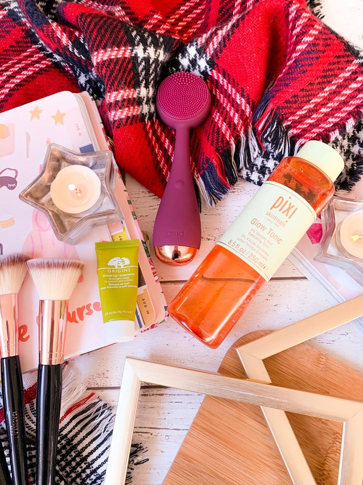 2019 Skincare Favourites Flatlay