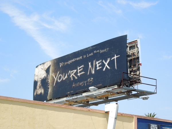 You're Next horror film billboard