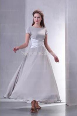 2019 Hot Sale Bridesmaid Dresses A Line Short Sleeve Sequin Chiffon Elegant Gown