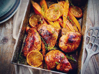 25-minute chicken with carrots