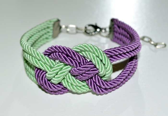 diy knotted silk cord bracelet, endlessleather.com