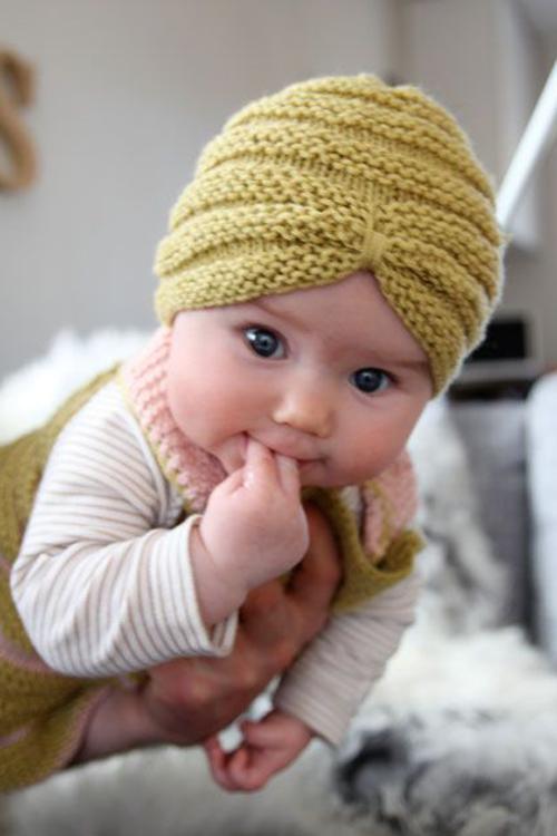 Knit Baby Turban Hat - Free Pattern