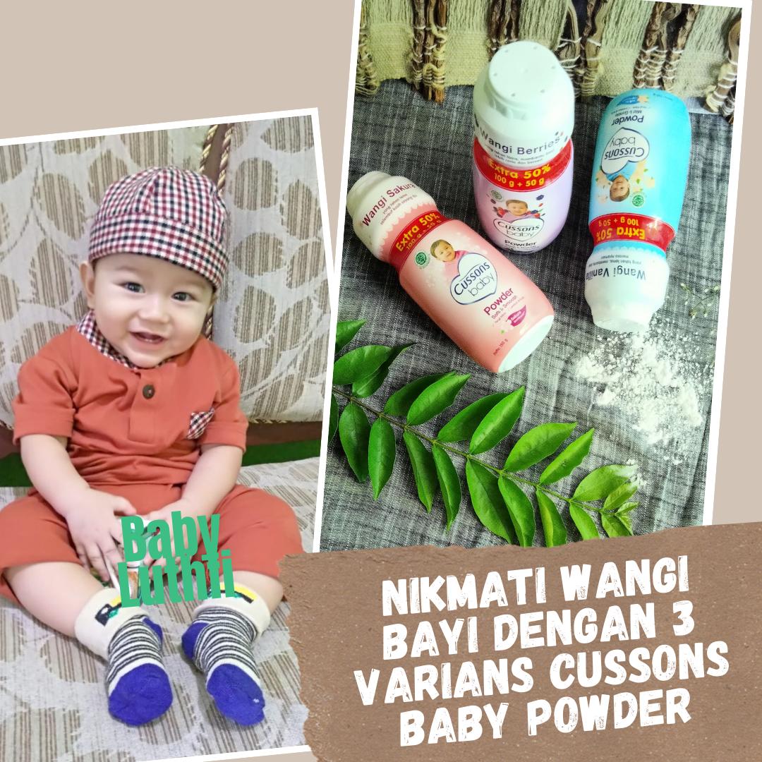 3 varians Cusson baby powder