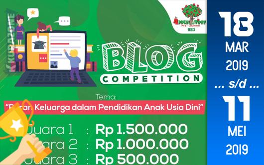 Kompetisi Blog - Apple Tree Pre-School BSD Berhadiah Total Senilai Rp. 5 Juta (11 Mei 2019)