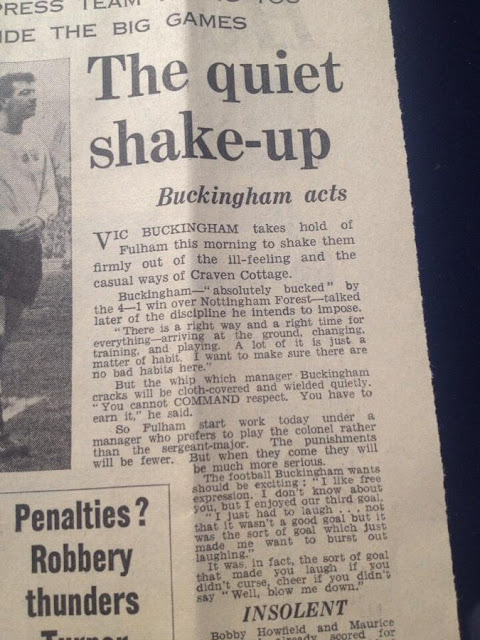 English Newspaper Buckingham Fulham