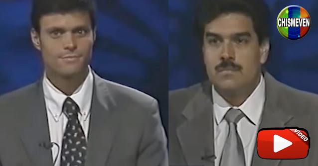 El día que Adriana Azzi estuvo con Leopoldo y Maduro juntos en el mismo programa