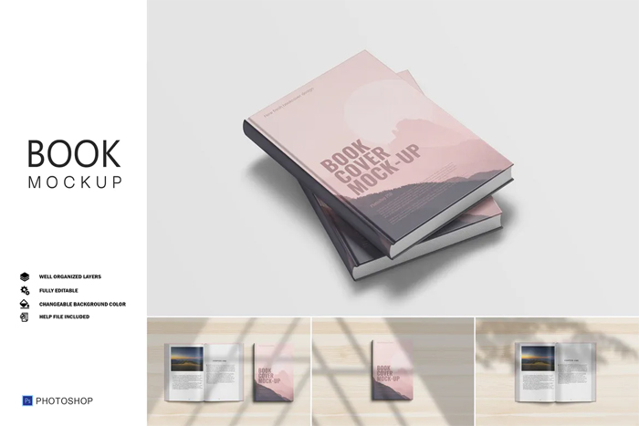 Book Cover Mockup Psd Free Dwonload