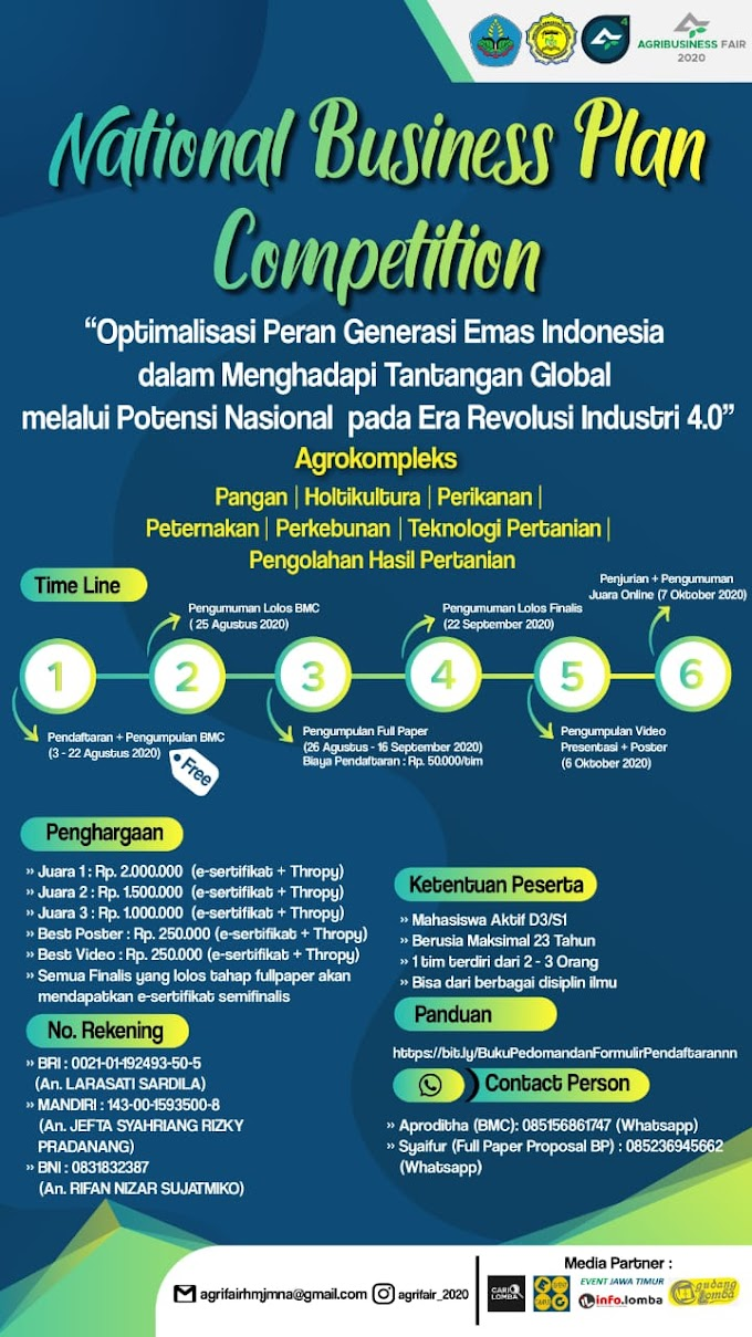 NATIONAL BUSINESS PLAN COMPETITION 2020