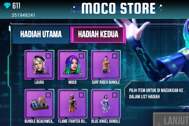 nah untuk besok bakal ada lagi nih event senjata permanen yaitu Moco Store Event Moco Store Spin Permanen Senjata Karakter dan Bundle Skin