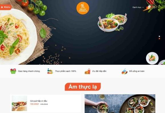 Giao diện blogspot nhà hàng ẩm thực