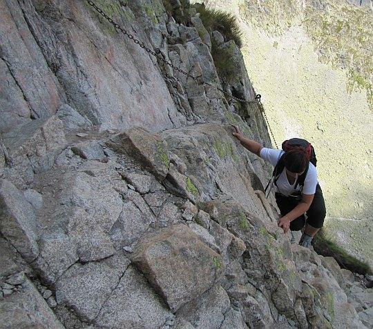 Zmagania ze skalną ścianą