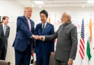 Trump and modi in india