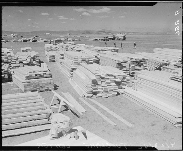 Tule Lake Relocation Center under construction on 23 April 1942 worldwartwo.filminspector.com