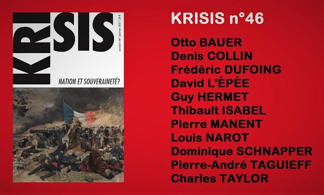 Revue Krisis 46 Nation et souveraineté