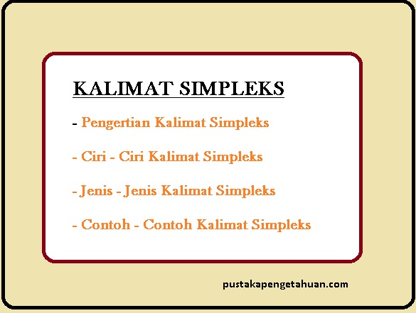 kalimat simpleks