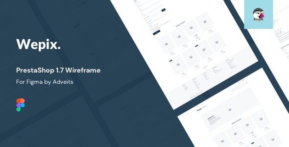 PrestaShop Wireframe for Figma