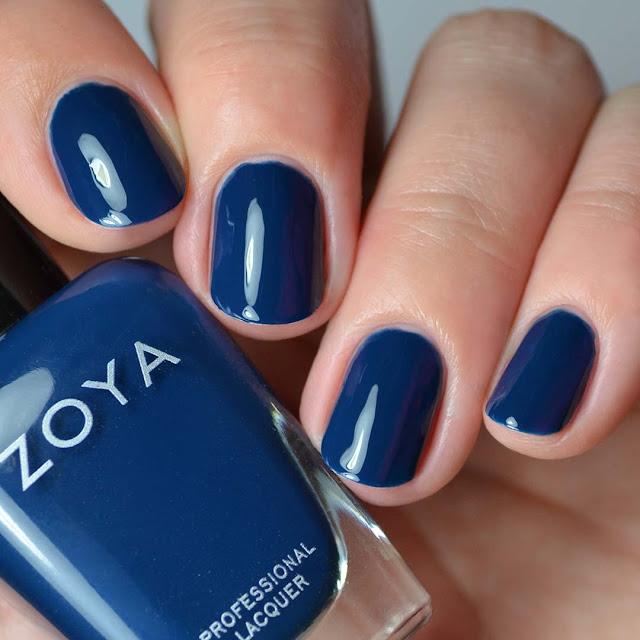 peacock blue creme nail polish