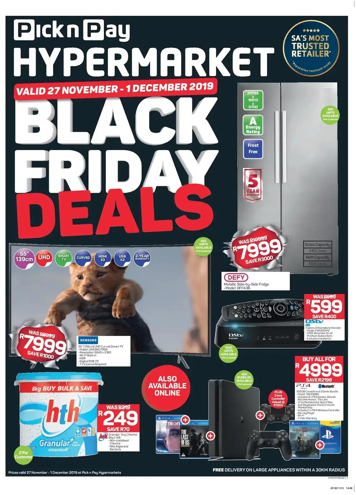 Pick n Pay Hypermarkets Black Friday deals - Page 1
