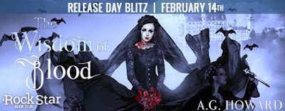 Release Day Blitz with Giveaway:  The Wisdom of Blood by A.G. Howard