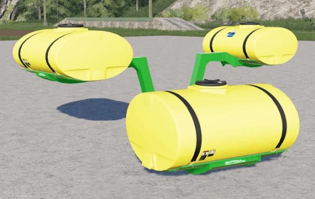 FS19 Frame Mounted Helicopter Tanks〡low profile v1.0