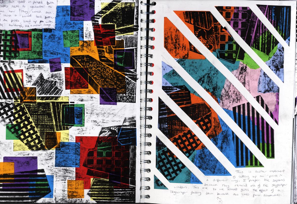 Digital Portfolio Printmaking Sketchbook
