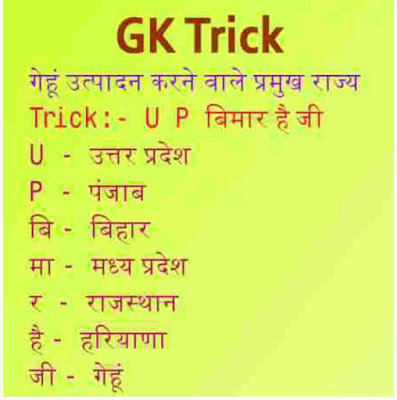 short gk tricks hindi
