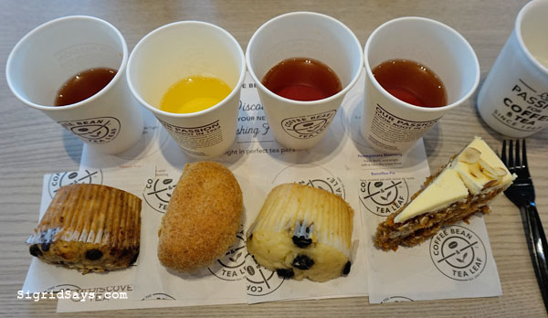 The Coffee Bean and Tea Leaf Bacolod - Bacolod restaurant - Bacolod cafe - Bacolod blogger - Ayala Malls Capitol Central - tea pairing - cakes and muffins