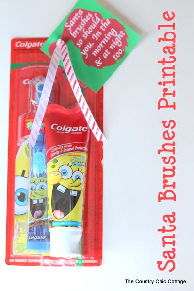 santa encourages teeth brushing