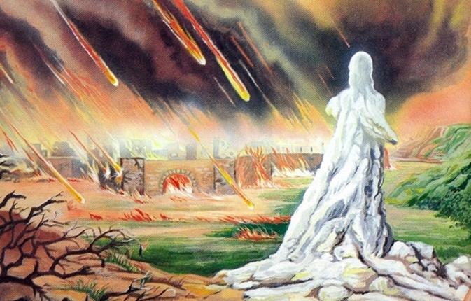 Mujer de Lot convertida en estatua de sal
