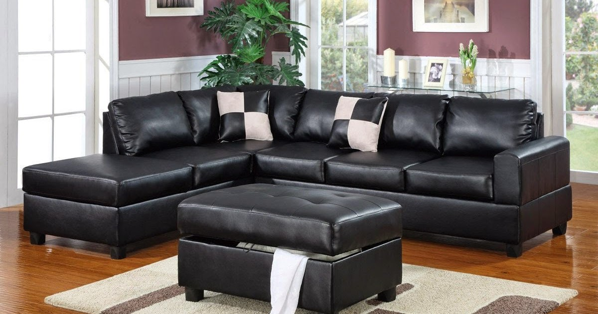 Black Leather Couch Black Leather Sectional Couch