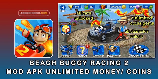Download Beach Buggy Racing 2 MOD APK 1.0.2 Unlimited Money Versi Terbaru