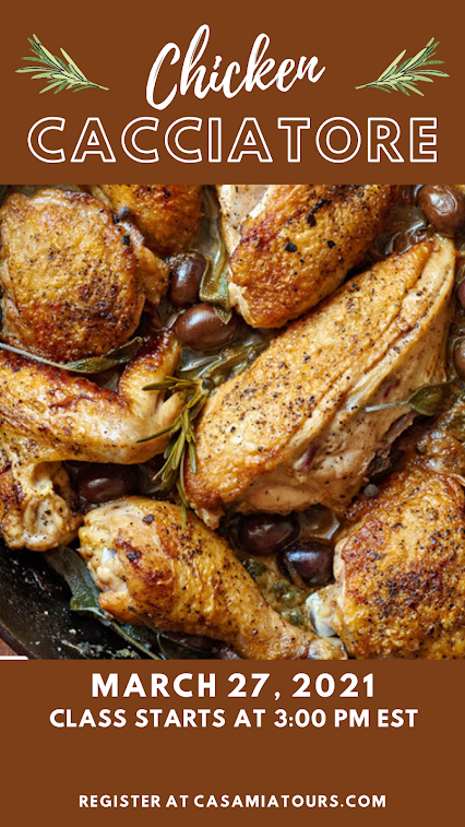 chicken cacciatore cooking class in march