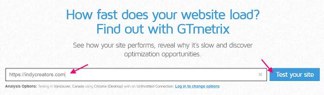 ใช้โปรแกรม GTMetrix วัดประสิทธิภาพเว็บไซต์ดูว่า bounce rate เท่าไหร่