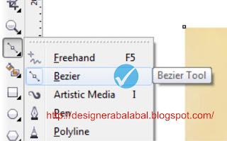 Cara Menggunakan Bezier di CorelDRAW