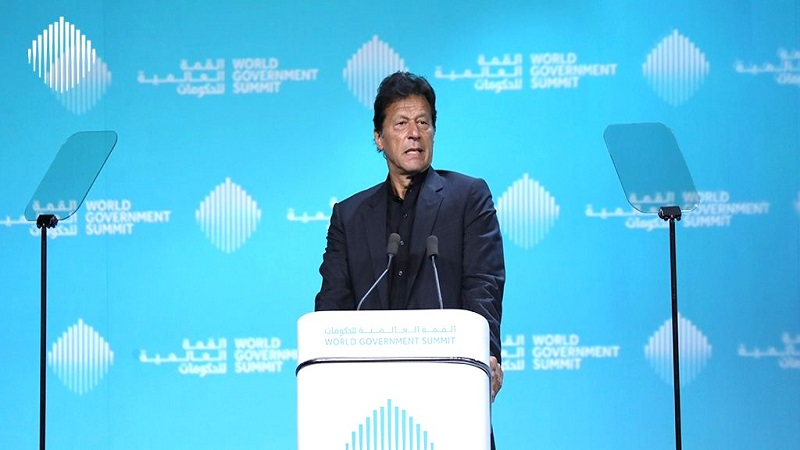 Imran Khan delivering speech