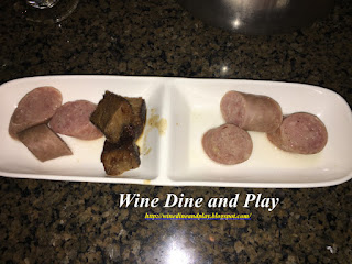 Meats for dipping to go with the Oktoberfest fondue at the Melting Pot restaurant in St. Petersburg, Florida.