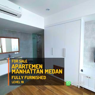 Kamar Tidur 2 Unit Apartemen Murah Fully Furnished - Tinggal Bawa Koper - The Manhattan Condominium dan Apartemen Ring Road Medan