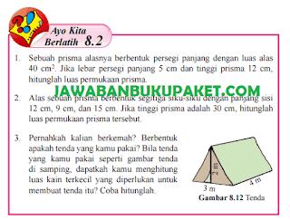 Jawaban Matematika Kelas 8 Ayo Kita Berlatih 8.2 Halaman 144 145 146 147 www.simplenews.me