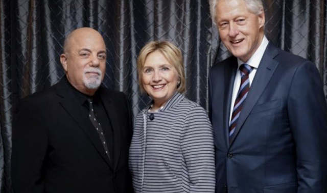 "Rock star Billy Joel probably didn't intend to provoke backlash against his ""good friends"" Bill and Hillary Clinton, but that's what happened when he dedicated a song to them during his concert on Thursday"