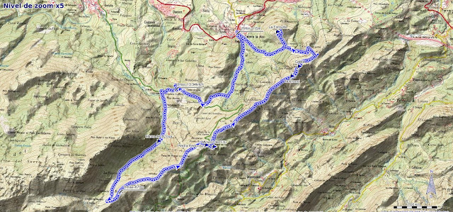 Ruta al Pico Gobia y La Forquita: Mapa de la ruta