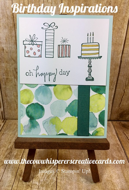 Card, Birthday, Happiest of Days, Stampin UP
