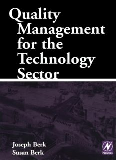Quality Management for the Technology Sector By Susan berk