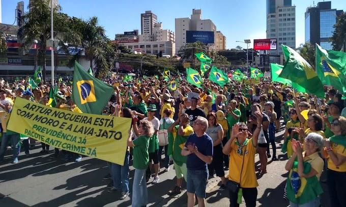 Brasil tem protestos em defesa da Lava Jato, Previdência e pacote anticrime