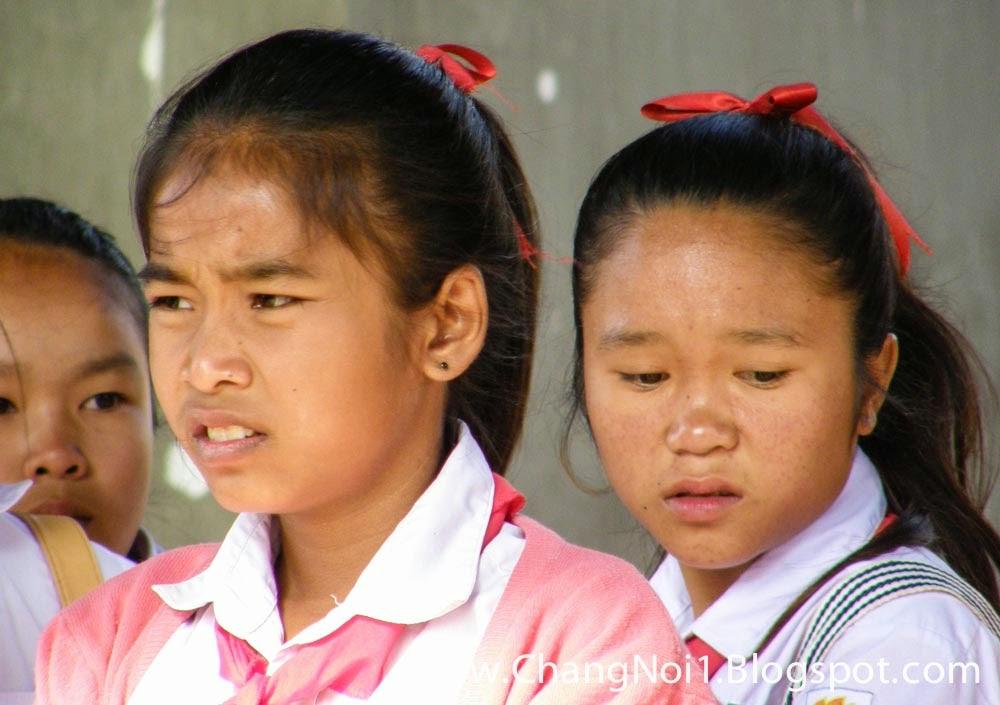 Schoolgirls in Vientiane, Laos