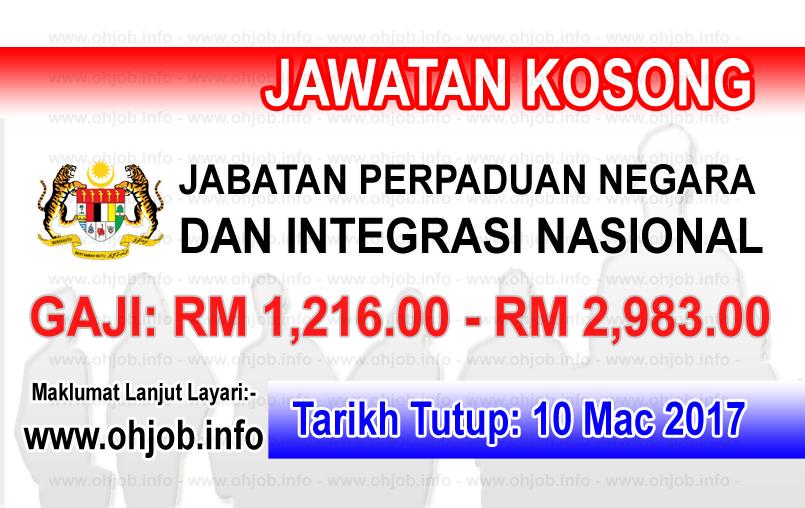 Jawatan Kerja Kosong JPNIN - Jabatan Perpaduan Negara dan Integrasi Nasional logo www.ohjob.info mac 2017