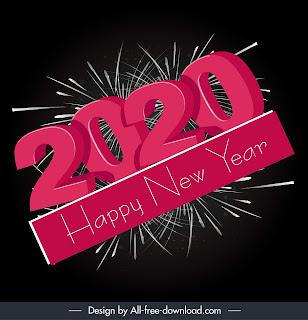 Desain Happy New Year 2020
