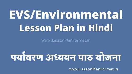 EVS Lesson Plan in Hindi   पर्यावरण अध्ययन का लेसन प्लान